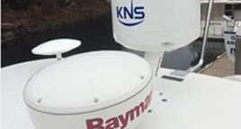 KNS sat dome installed on Scan Strut