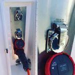 Mains work by licensed marine electricians