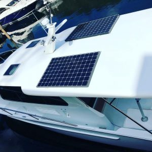 Solar Panels fitted to Fairway 37 by Bird Electrical Marine, Sydney