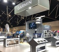 Bird Electrical on Garmin Stand at Sydney International Boat Show 2019