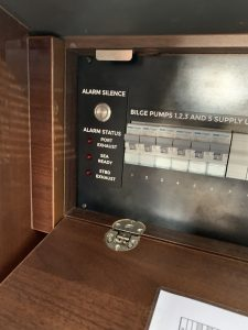 Princess Motor yacht Alarm Silence designed, manufactured and installed by Bird Electrical