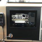 Fairline Motor Yacht Garmin upgrade with black matt acrylic backing plate